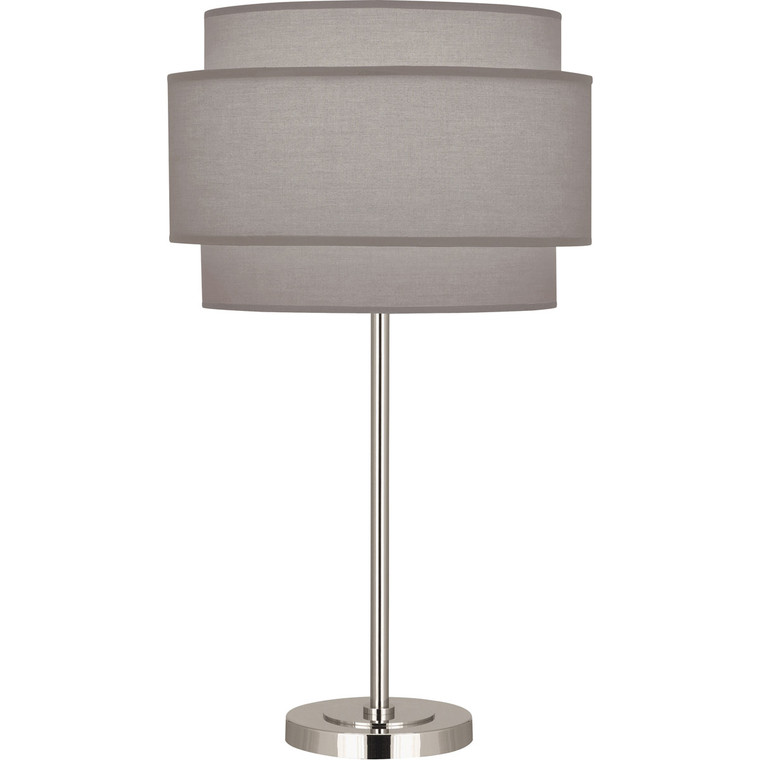 Robert Abbey Decker Table Lamp in Polished Nickel Finish