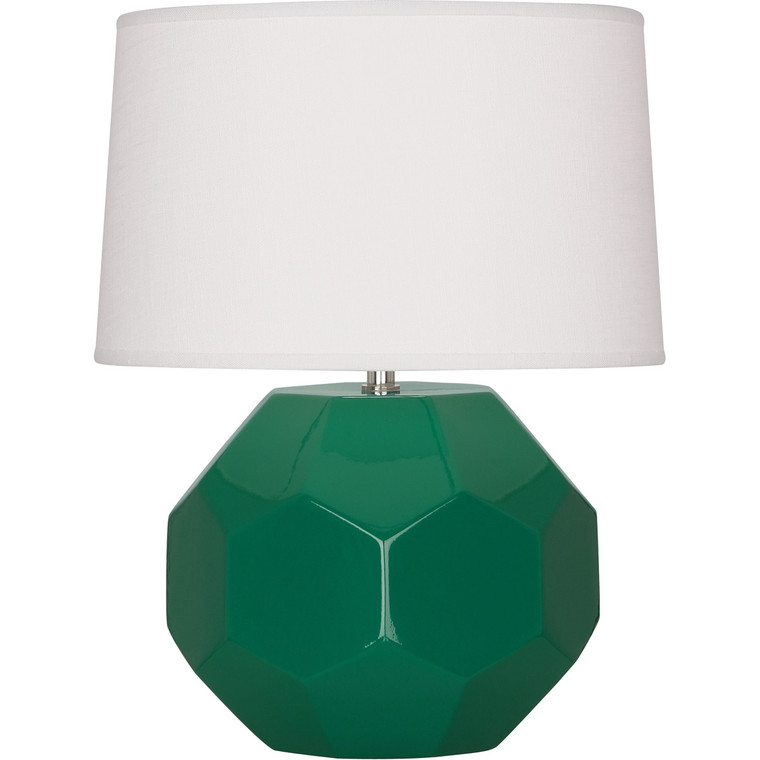 Robert Abbey Emerald Franklin Accent Lamp in Emerald Green Glazed Ceramic