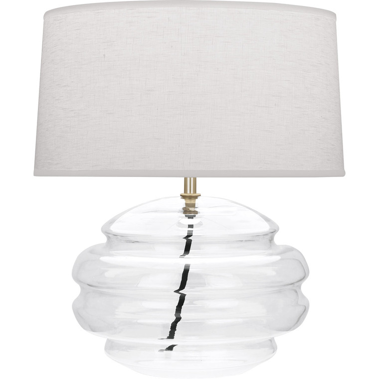 Robert Abbey Horizon Accent Lamp in Modern Brass Finish with Clear Glass