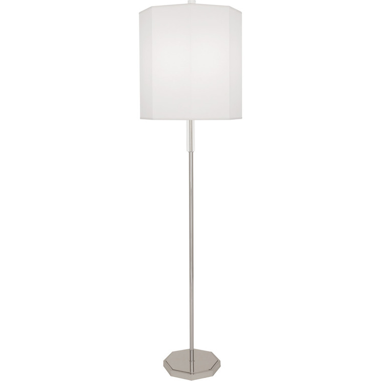 Robert Abbey Kate Floor Lamp in Polished Nickel Finish with Clear Crystal Accents
