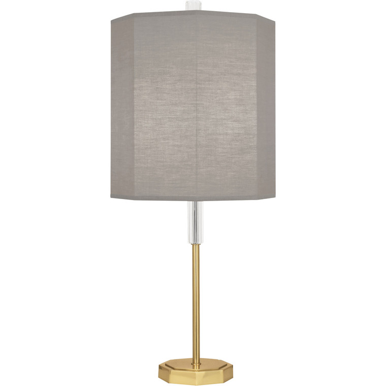 Robert Abbey Kate Table Lamp in Modern Brass Finish with Clear Crystal Accents