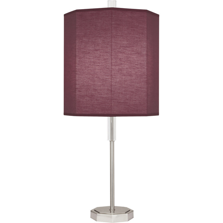 Robert Abbey Kate Table Lamp in Polished Nickel Finish with Clear Crystal Accents