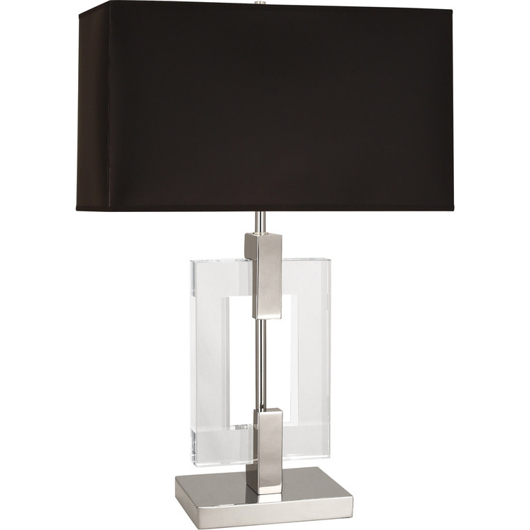 Robert Abbey Lincoln Table Lamp in Polished Nickel Finish with Crystal Accents