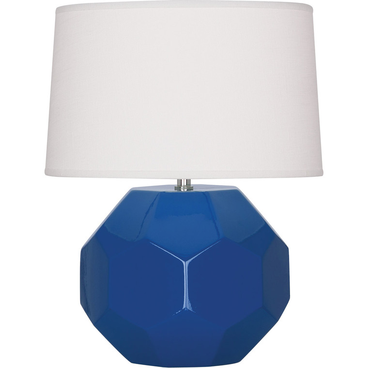 Robert Abbey Marine Franklin Accent Lamp in Marine Blue Glazed Ceramic