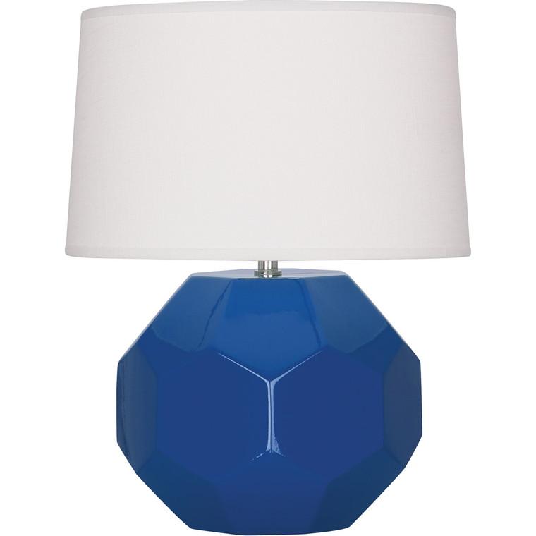 Robert Abbey Marine Franklin Table Lamp in Marine Blue Glazed Ceramic