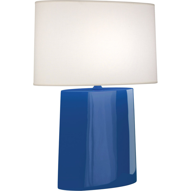 Robert Abbey Marine Victor Table Lamp in Marine Blue Glazed Ceramic