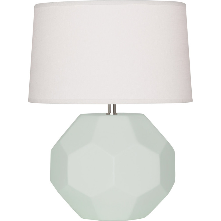 Robert Abbey Matte Celadon Franklin Accent Lamp in Matte Celadon Glazed Ceramic