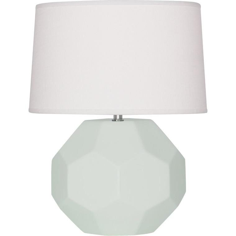 Robert Abbey Matte Celadon Franklin Table Lamp in Matte Celadon Glazed Ceramic