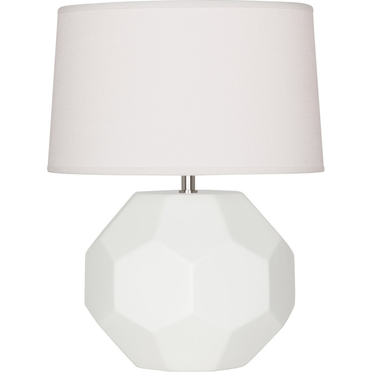 Robert Abbey Matte Lily Franklin Accent Lamp in Matte Lily Glazed Ceramic