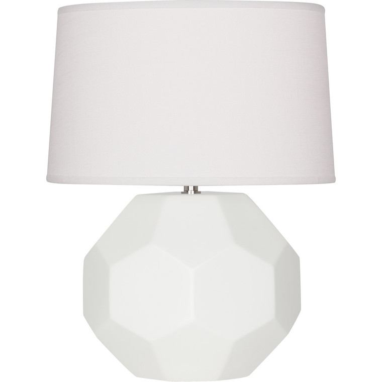 Robert Abbey Matte Lily Franklin Table Lamp in Matte Lily Glazed Ceramic