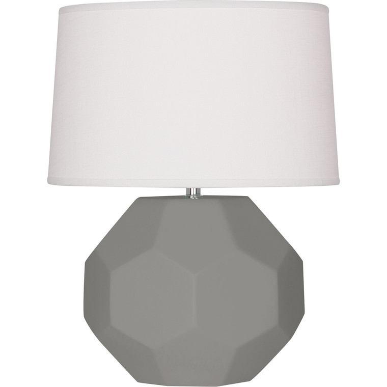 Robert Abbey Matte Smoky Taupe Franklin Accent Lamp in Matte Smoky Taupe Glazed Ceramic