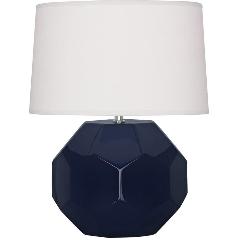 Robert Abbey Midnight Franklin Accent Lamp in Midnight Blue Glazed Ceramic