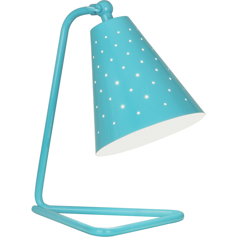 Robert Abbey Pierce Accent Lamp in Egg Blue Gloss Finish