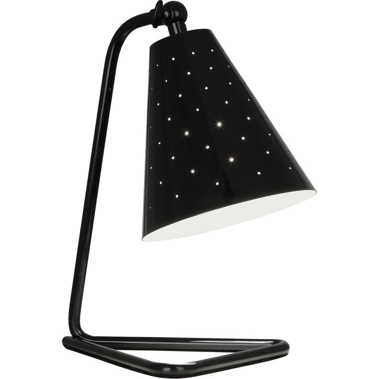 Robert Abbey Pierce Accent Lamp in Piano Black Gloss Finish