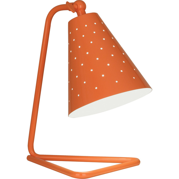 Robert Abbey Pierce Accent Lamp in Pumpkin Gloss Finish
