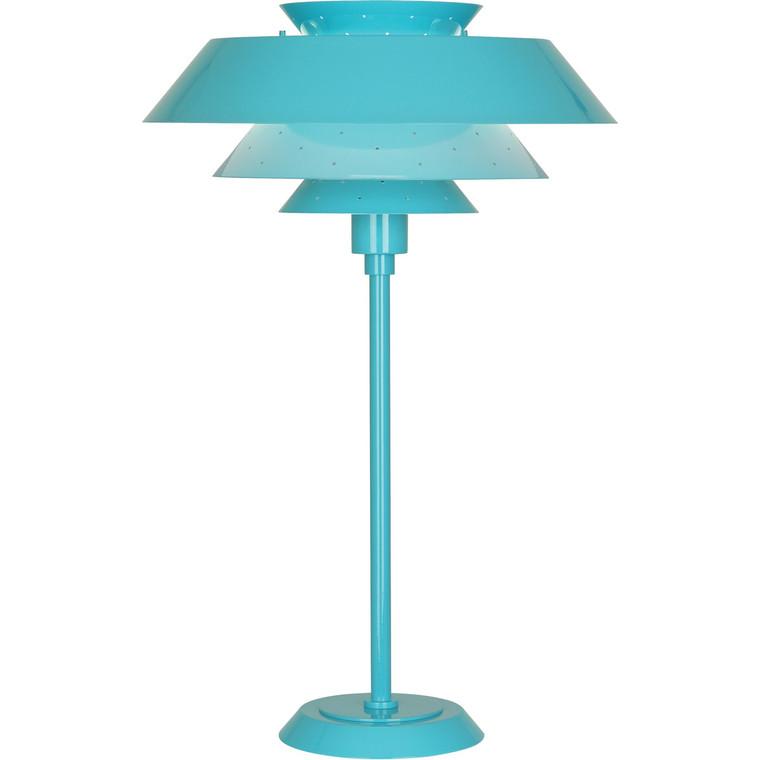 Robert Abbey Pierce Table Lamp in Egg Blue Gloss Finish