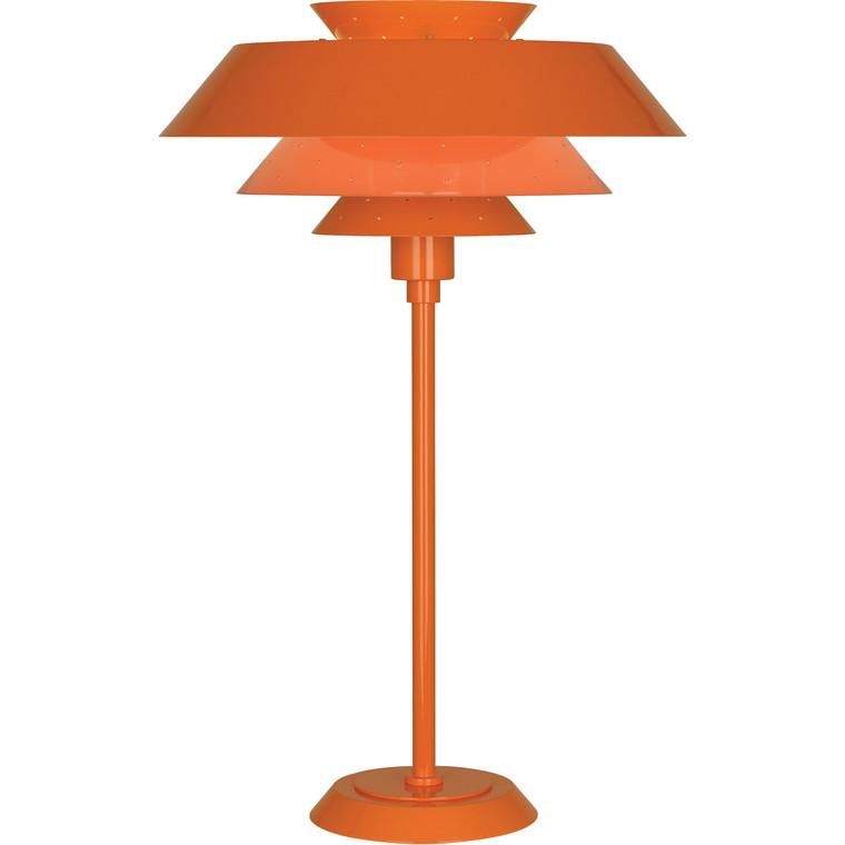 Robert Abbey Pierce Table Lamp in Pumpkin Gloss Finish