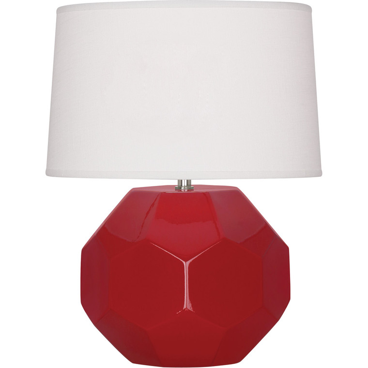 Robert Abbey Ruby Red Franklin Accent Lamp in Ruby Red Glazed Ceramic
