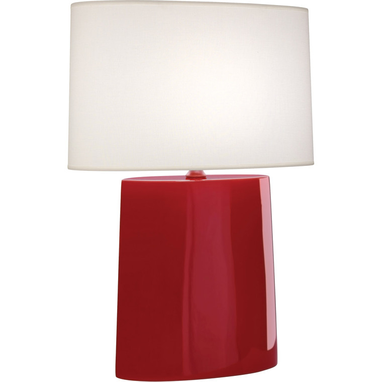 Robert Abbey Ruby Red Victor Table Lamp in Ruby Red Glazed Ceramic