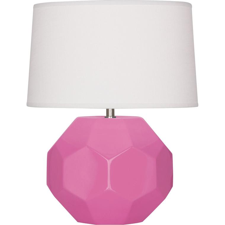 Robert Abbey Schiaparelli Pink Franklin Accent Lamp in Schiaparelli Pink Glazed Ceramic
