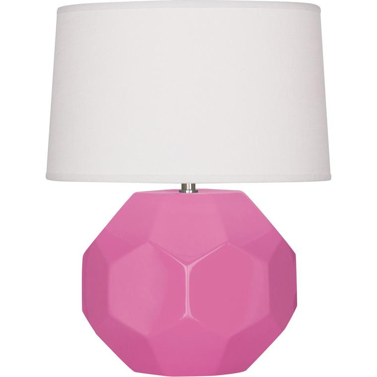 Robert Abbey Schiaparelli Pink Franklin Table Lamp in Schiaparelli Pink Glazed Ceramic