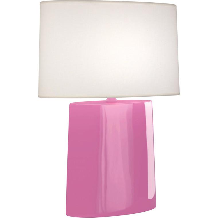 Robert Abbey Schiaparelli Pink Victor Table Lamp in Schiaparelli Pink Glazed Ceramic