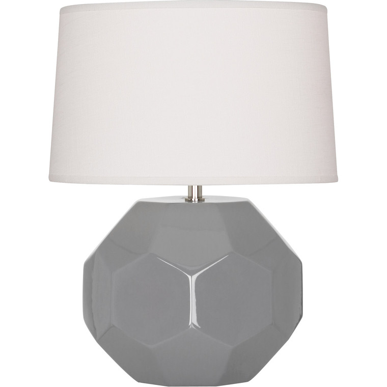 Robert Abbey Smokey Taupe Franklin Accent Lamp in Smoky Taupe Glazed Ceramic