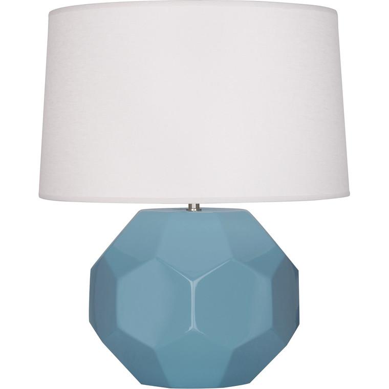 Robert Abbey Steel Blue Franklin Table Lamp in Steel Blue Glazed Ceramic
