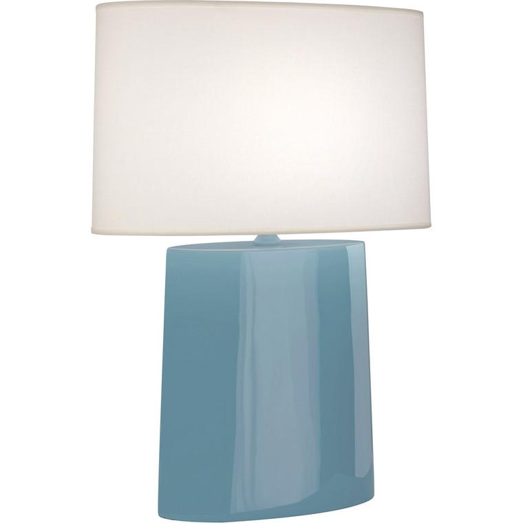 Robert Abbey Steel Blue Victor Table Lamp in Steel Blue Glazed Ceramic