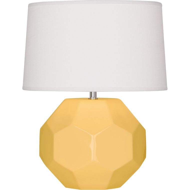 Robert Abbey Sunset Franklin Table Lamp in Sunset Yellow Glazed Ceramic