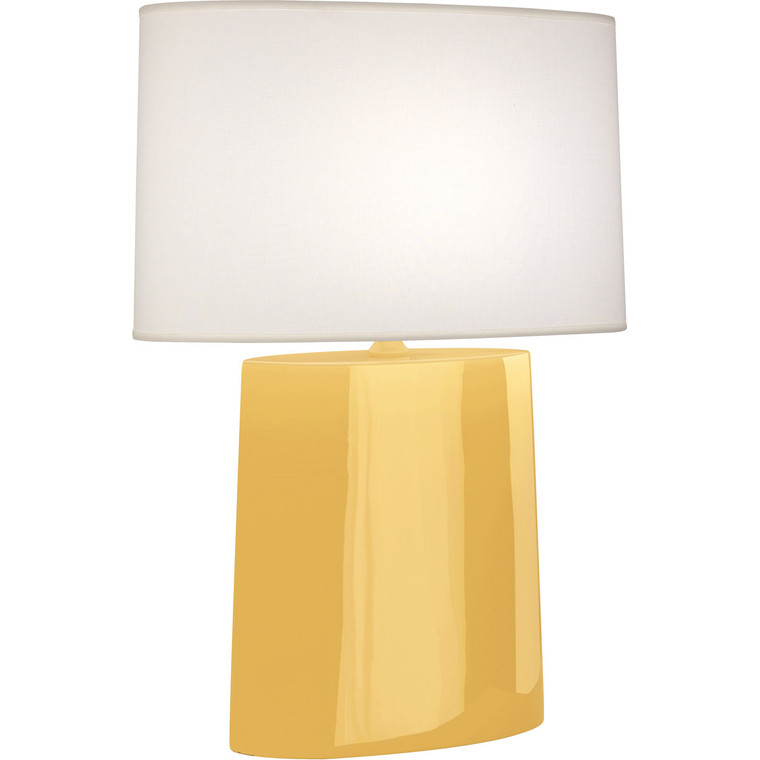 Robert Abbey Sunset Victor Table Lamp in Sunset Yellow Glazed Ceramic