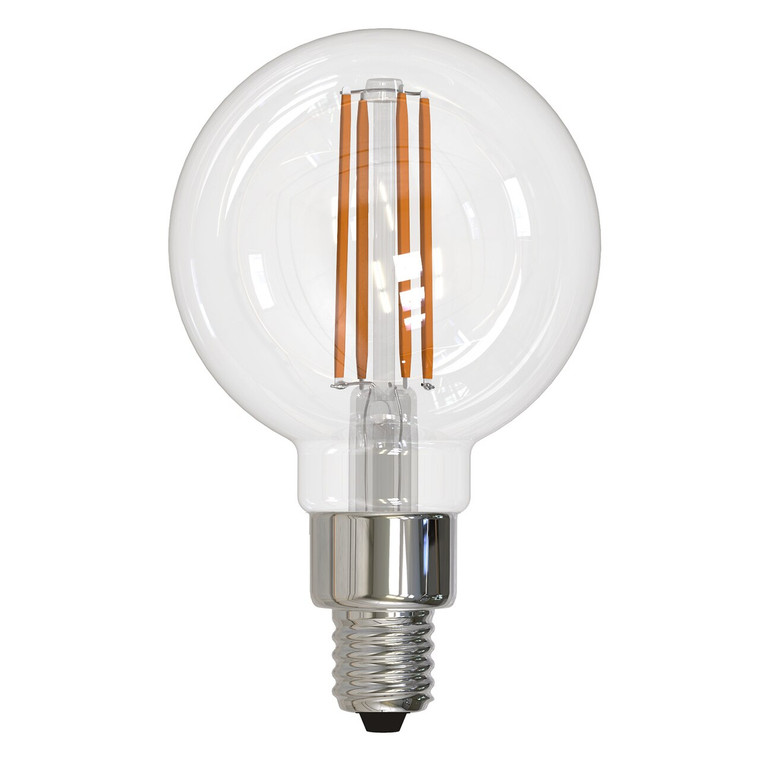 Bulbrite: 776873 LED Filaments: Fully Compatible Dimming, Clear Watts: 4.5 - LED4G16/27K/FIL/3 (1 Bulb Pack)