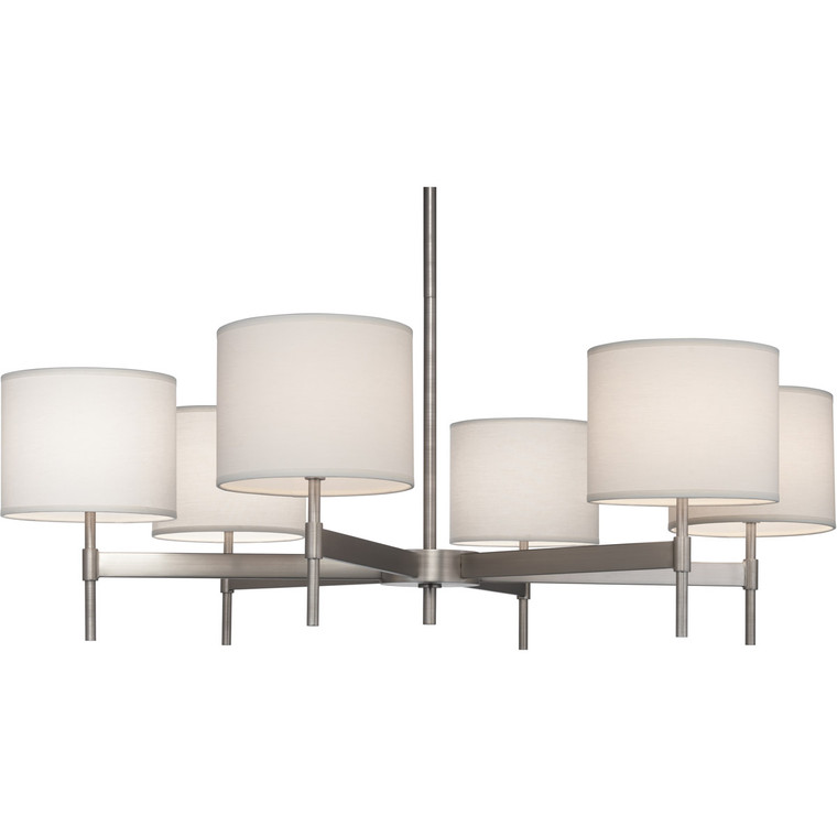 Robert Abbey Echo Chandelier in Stainless Steel Finish S2188