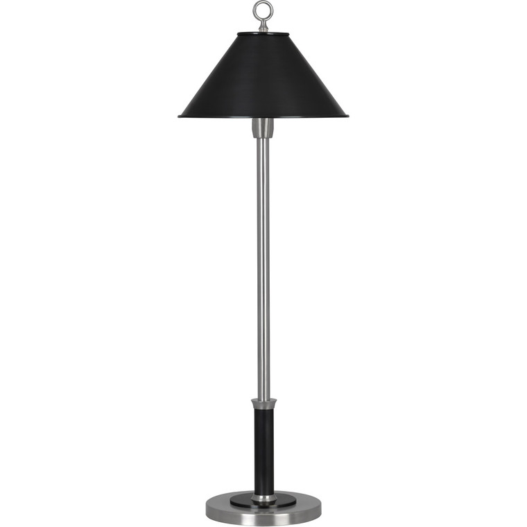 Robert Abbey Aaron Table Lamp in Dark Antique Nickel Finish with Deep Patina Bronze Accents S703