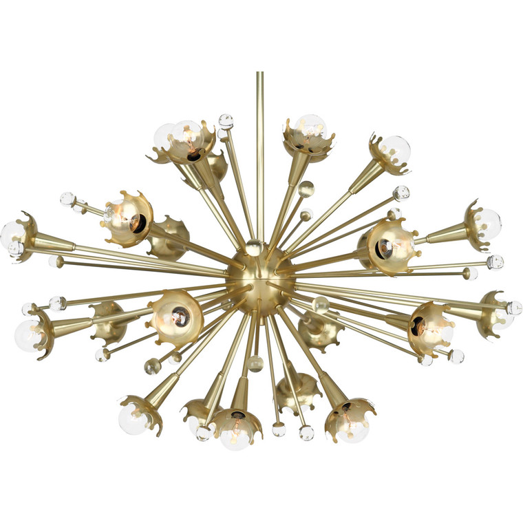Robert Abbey Jonathan Adler Sputnik Chandelier in Antique Brass with Crystal Accents 710