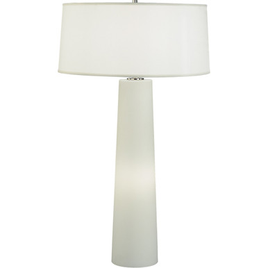 Robert Abbey Rico Espinet Olinda Table Lamp In Frosted White Cased Glass Base With Night Light 1578w
