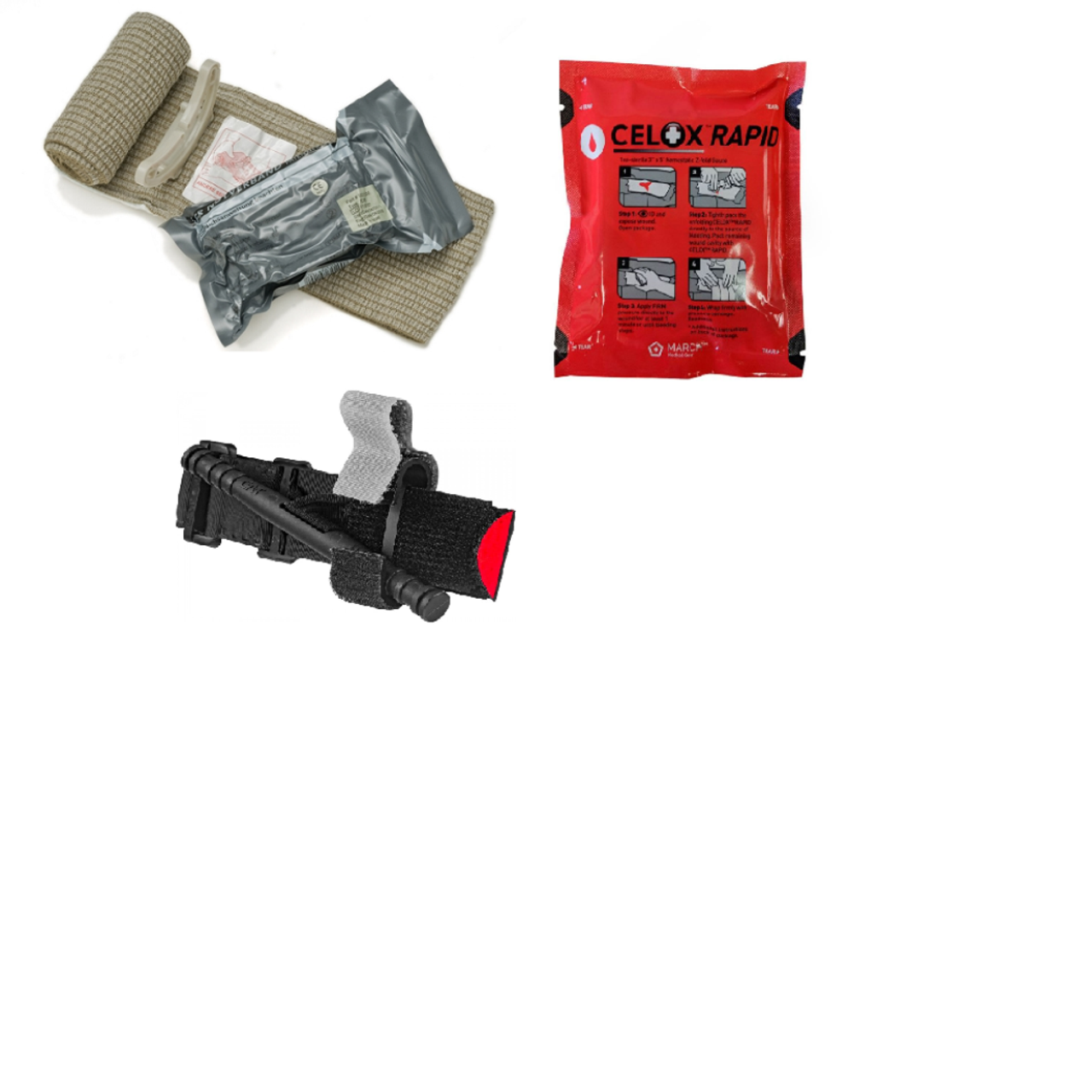 Every Day Carry (EDC) Life Saver, CAT Tourniquet, Israeli Bandage and Celox  Rapid Pack