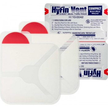 Hyfin Vent Compact Chest Seal Twin Pack 10-0042