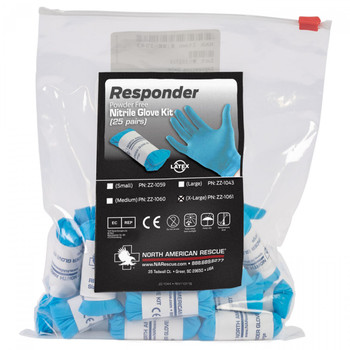 Responder Blue Nitrile Glove Kit (Pack of 25)