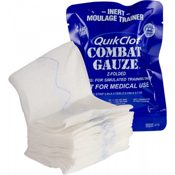 QuikClot Hemostatic Gauze Blue Trainer 30-0063