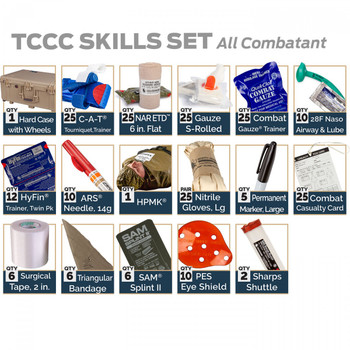 TCCC Skills Set – All Combatant Training Kit 80-0968