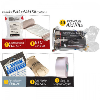Mass Crisis Incident Kit w/ 40 x Individual Aid Kits 85-0411
