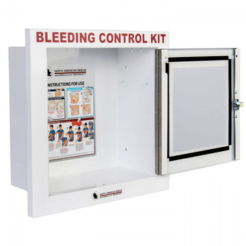 Public Access Bleeding Control  Metal  Semi-Recessed Wall Case ZZ-0921
