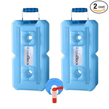 WaterBrick 3.5 Gallon Blue Food & Water Containers 1833-0001