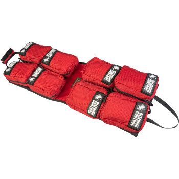 Public Access Bleeding Control 8-Pack w/ C-A-T Tourniquet - Red Nylon Zippered Kits
