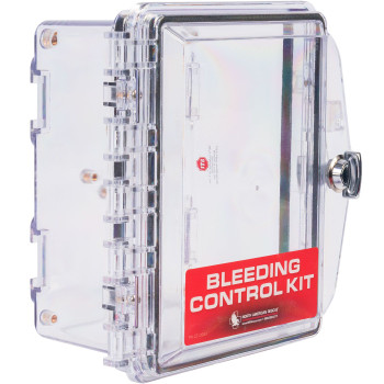 Public Access Bleeding Control Clear Wall Case - 2 Sizes