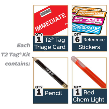 T2 Triage Tags (20 Pack) 20-0031