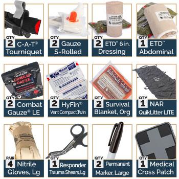 RUF Trauma Pack Kit w/ C-A-T Tourniquet & QuikClot LE Combat Gauze 80-0975