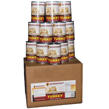 Turkey - Ready to Eat Canned Meat 12 Cans Full Case SCFKY28CASE