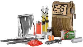 Echo-Sigma Compact Survival Kit w/ Fire Starter CSK